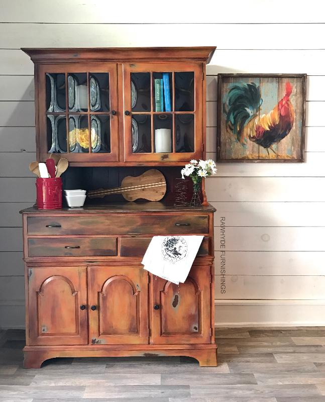 China Hutch Painted Furniture Makeover