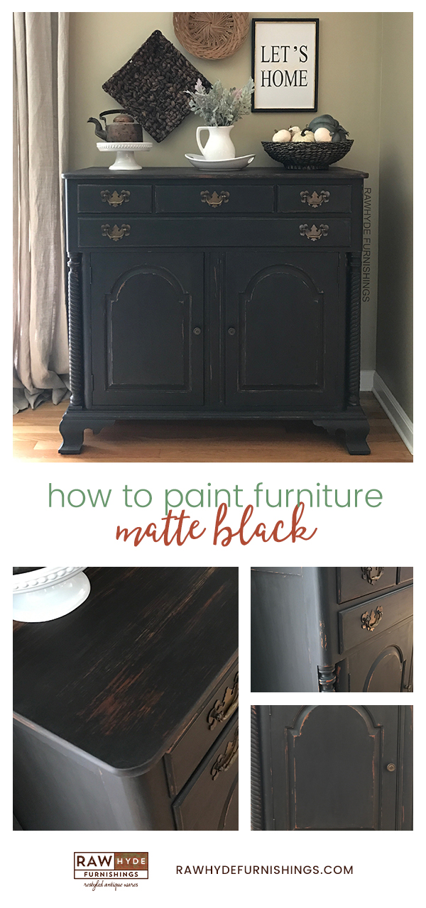 Paint Furniture Matte Black Learn How Rawhyde Furnishings