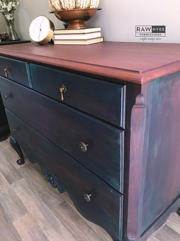 Painted Bohemian Dresser Makeover Rawhyde Furnishings