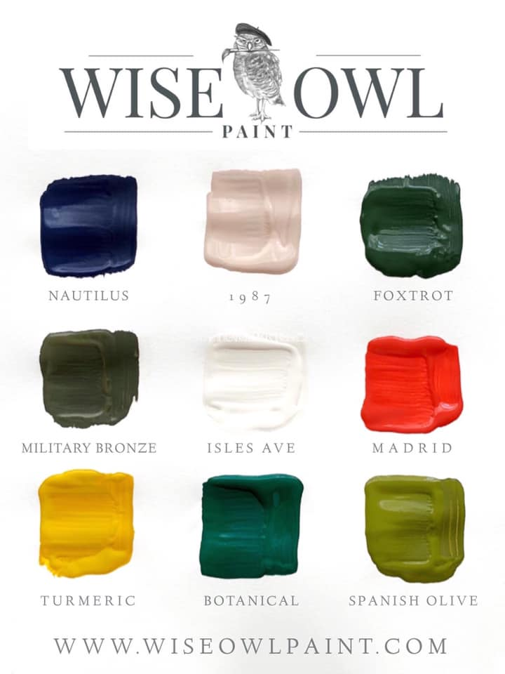 Wise Owl Chalk Synthesis Paint Rawhyde Furnishings